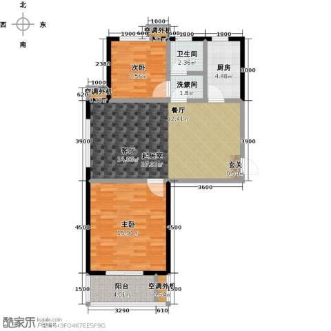 海韵馨园2室0厅1卫1厨92.00㎡户型图
