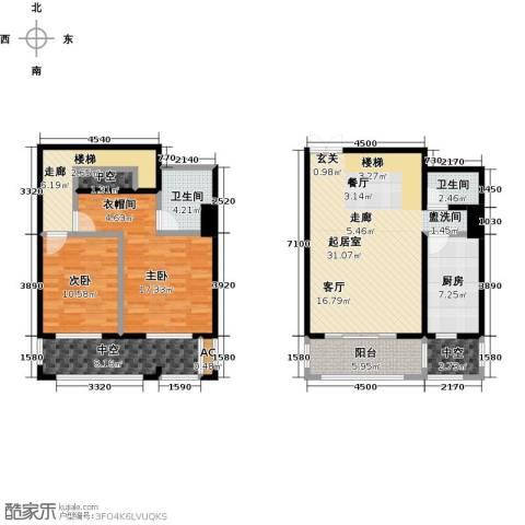 曲江风景线2室0厅2卫1厨142.00㎡户型图