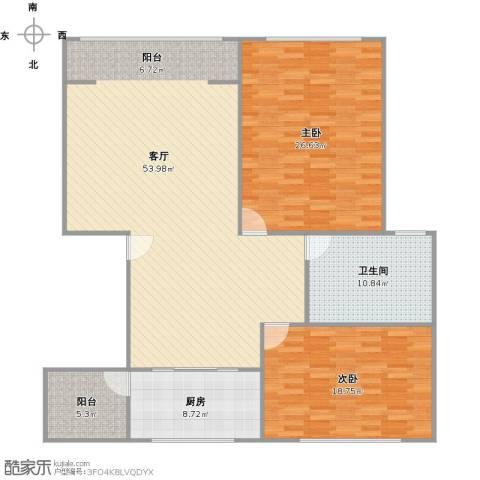 天鹅泉公寓2室1厅1卫1厨164.00㎡户型图