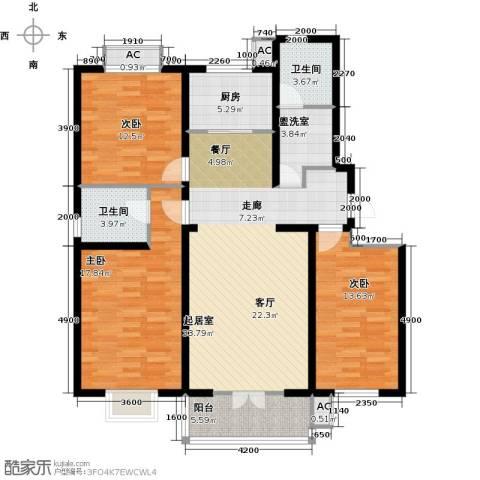 水榭花城3室0厅2卫1厨145.00㎡户型图