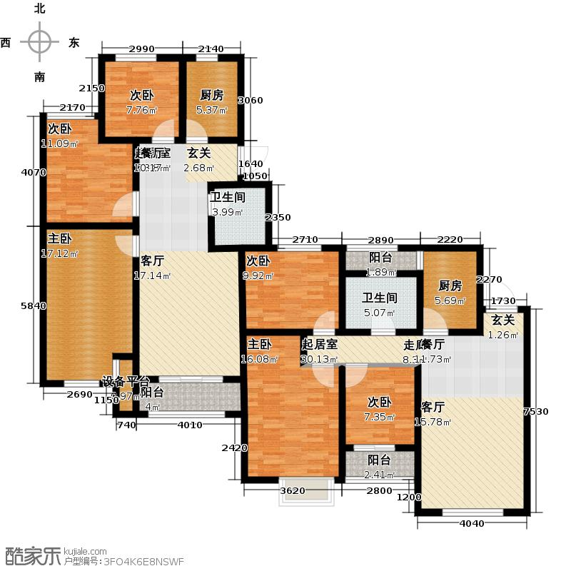 印象欧洲94.00㎡三期DG1户型3室2厅1卫