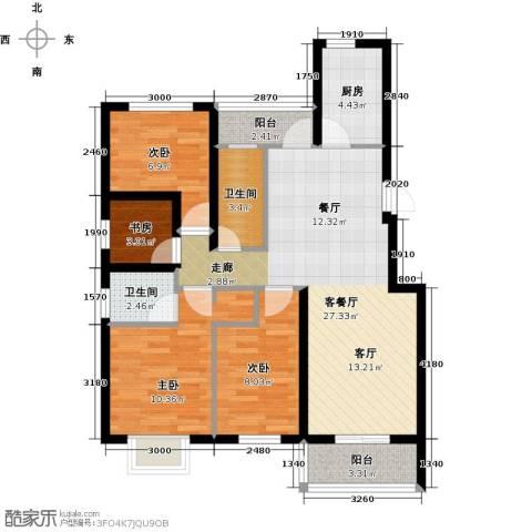 天境4室1厅2卫1厨104.00㎡户型图