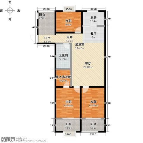 金威怡园3室0厅1卫1厨129.00㎡户型图