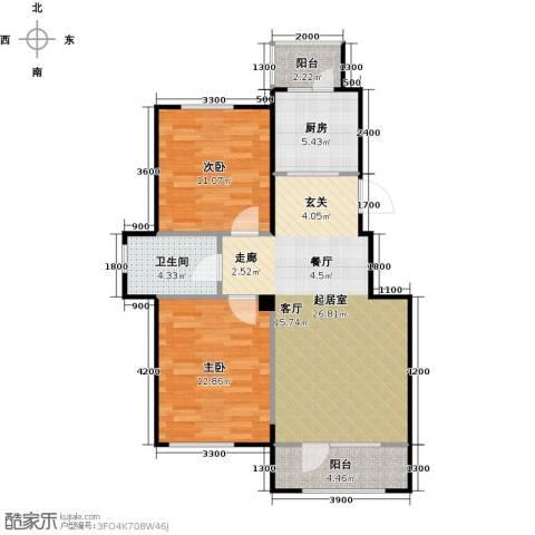 国安宜居2室0厅1卫1厨85.00㎡户型图