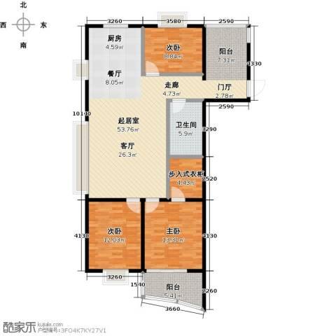 金威怡园3室0厅1卫0厨133.00㎡户型图