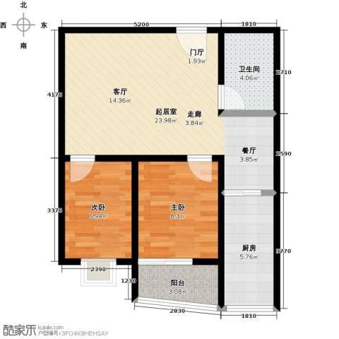 金威怡园2室0厅1卫1厨74.00㎡户型图