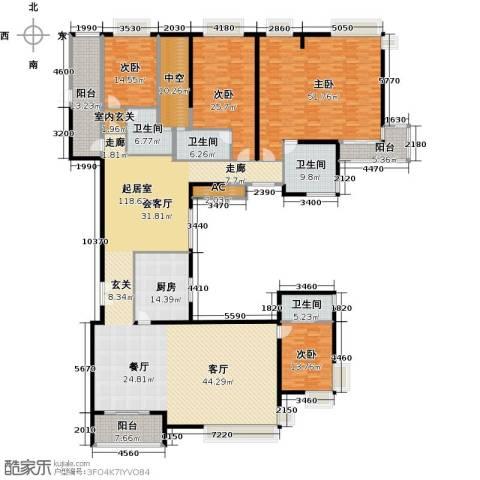 中海银海湾4室0厅4卫1厨424.00㎡户型图