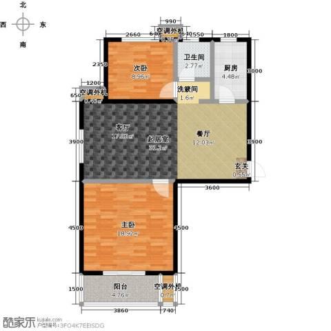 海韵馨园2室0厅1卫1厨102.00㎡户型图