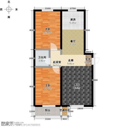 海韵馨园2室0厅1卫0厨92.00㎡户型图