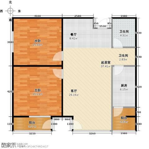 炫彩SOHO2室0厅1卫1厨105.00㎡户型图
