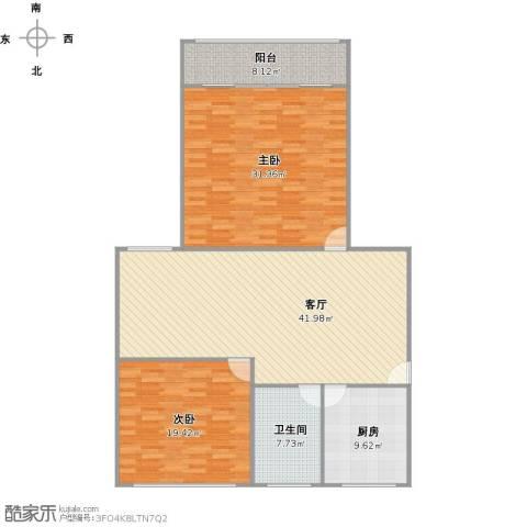 太阳公寓2室1厅1卫1厨156.00㎡户型图