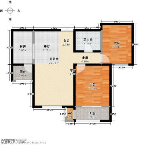 松江城玫瑰郡2室0厅1卫1厨98.00㎡户型图