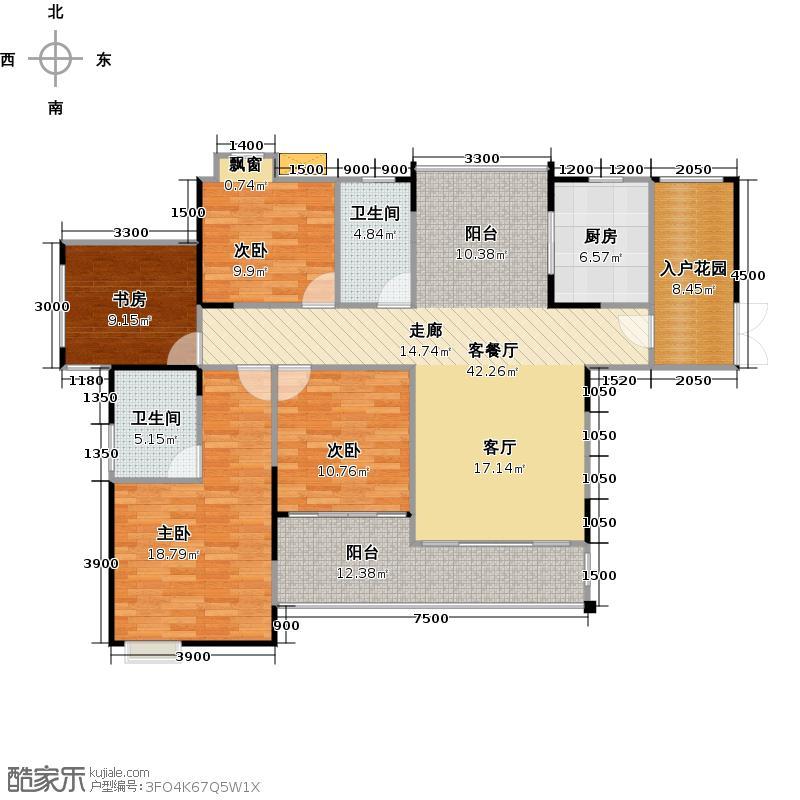 菩提苑156.00㎡D3户型 4室2厅2卫户型4室2厅2卫