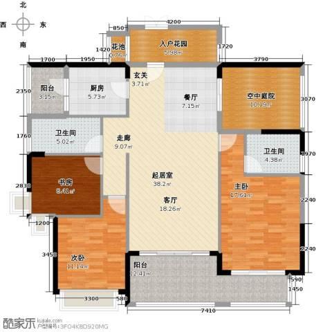 新地东方明珠3室0厅2卫1厨140.00㎡户型图