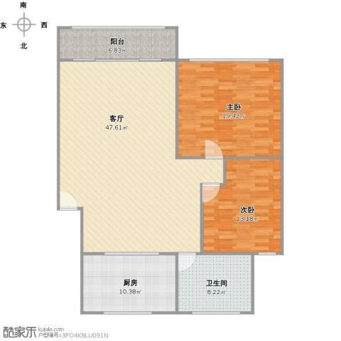 新江湾城时代花园2室1厅1卫1厨140.00㎡户型图