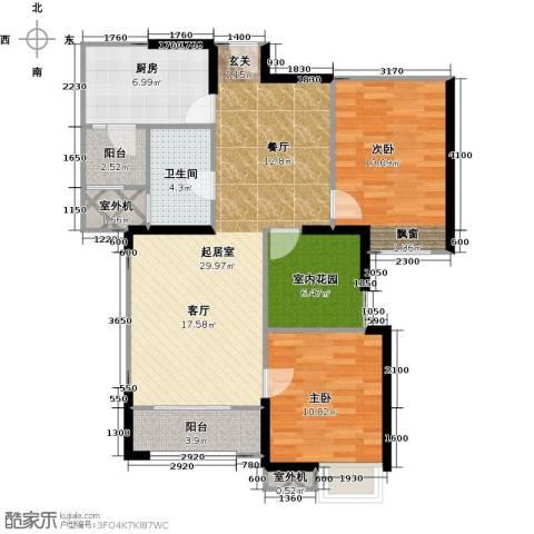 中海锦城2室0厅1卫1厨89.00㎡户型图