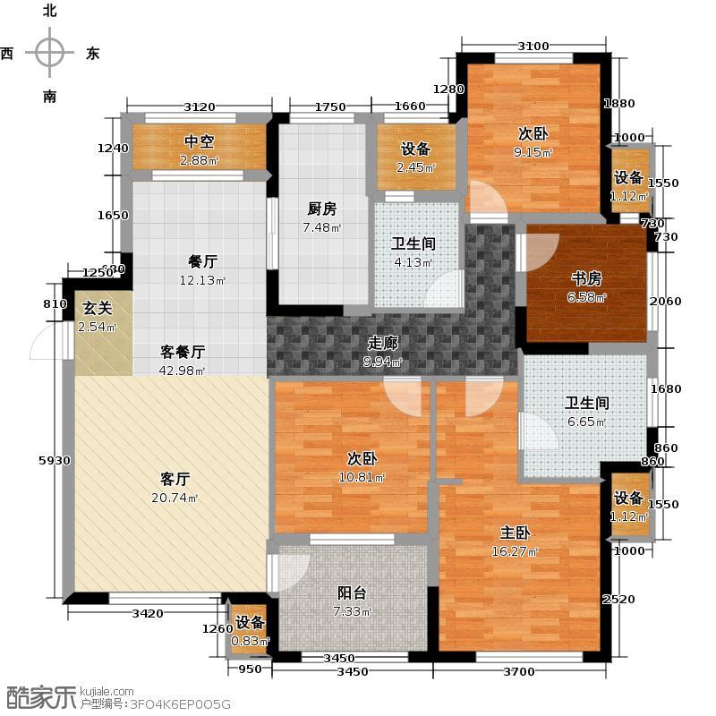 金地格林郡137.00㎡三房户型2室2厅2卫