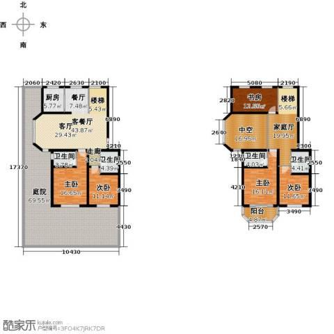 天境5室1厅4卫1厨345.00㎡户型图