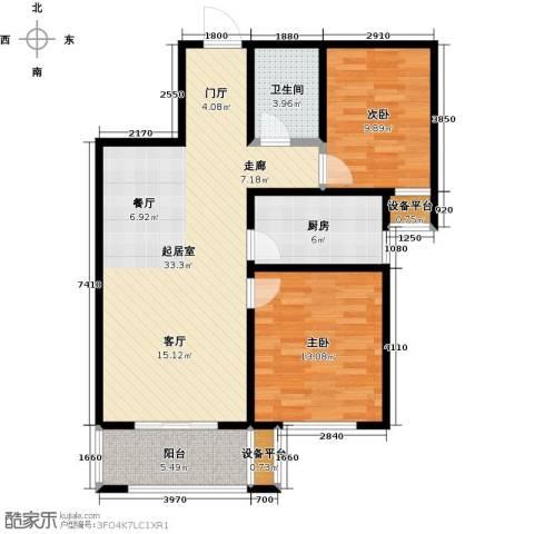 香榭丽都2室0厅1卫1厨82.96㎡户型图