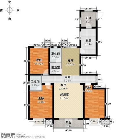水榭花城3室0厅2卫1厨155.00㎡户型图