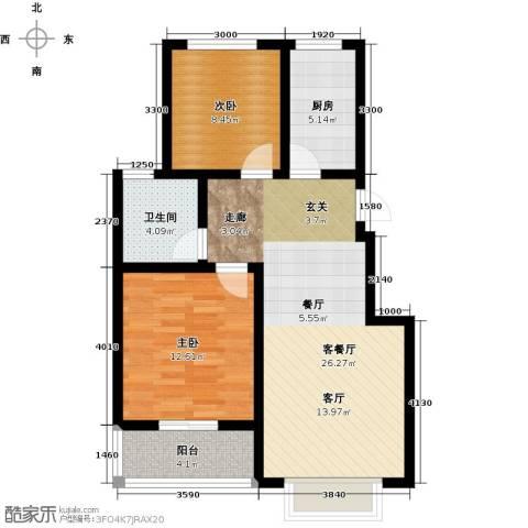 天境2室1厅1卫1厨88.00㎡户型图
