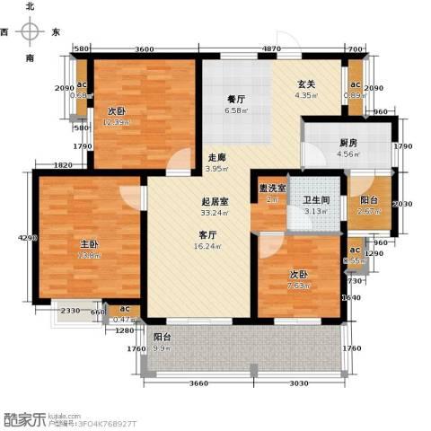 凤凰花园3室0厅1卫1厨105.00㎡户型图