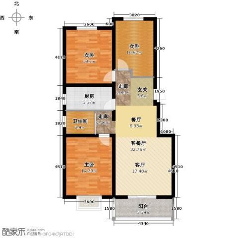 天境3室1厅1卫1厨121.00㎡户型图