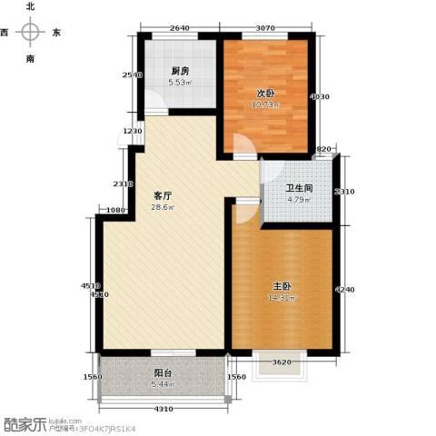 天境2室1厅1卫1厨99.00㎡户型图