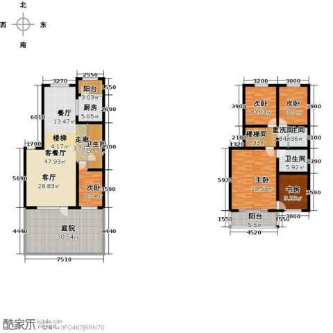 天境5室1厅3卫1厨252.00㎡户型图