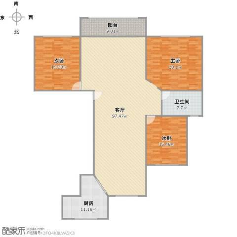 浦江风景苑2室1厅1卫1厨210.00㎡户型图