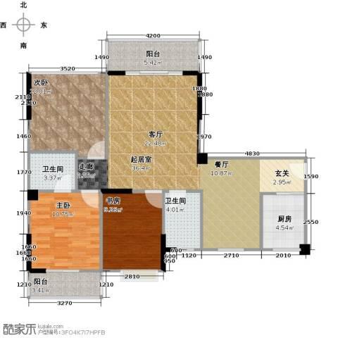 润恒国华瑞景3室0厅2卫1厨105.00㎡户型图