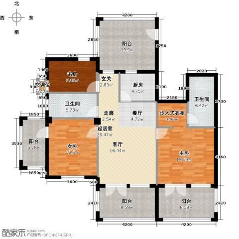 戴河庭院3室0厅2卫1厨170.00㎡户型图