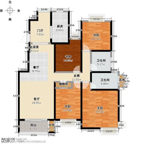越湖名邸4室0厅2卫1厨139.00㎡户型图