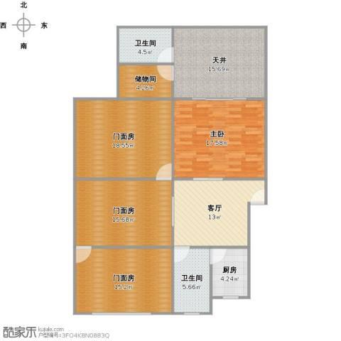 钻石苑1室1厅2卫1厨153.00㎡户型图