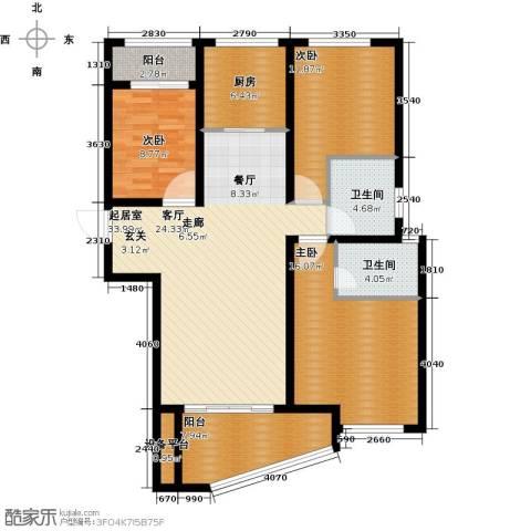 公园世家3室0厅2卫1厨140.00㎡户型图
