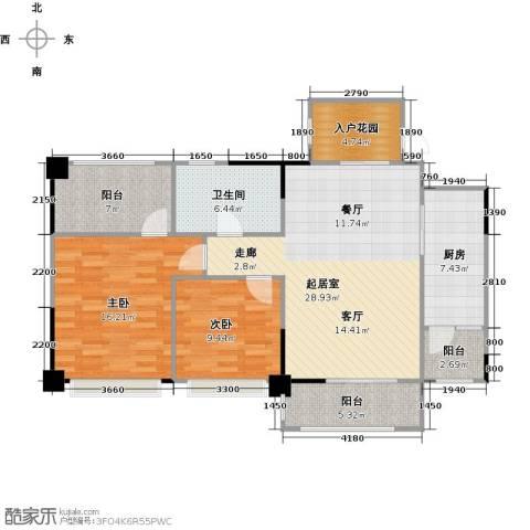 长兴99号公馆2室0厅1卫1厨92.00㎡户型图