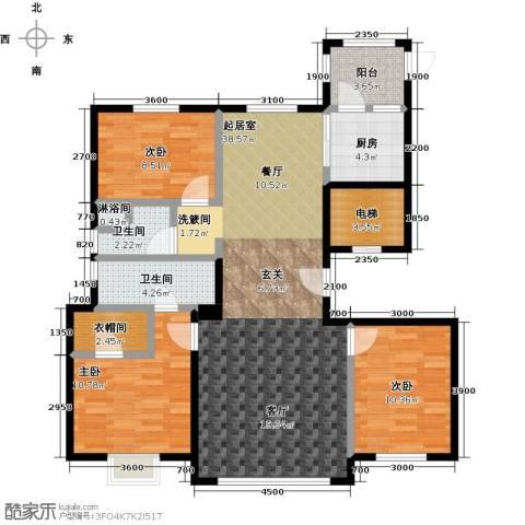 恒昌卢浮公馆3室0厅2卫1厨139.00㎡户型图