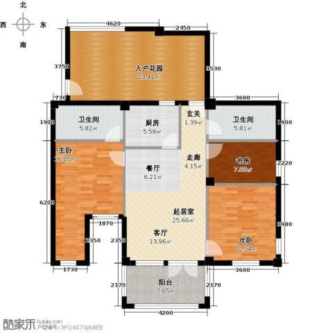 戴河庭院3室0厅2卫1厨154.00㎡户型图