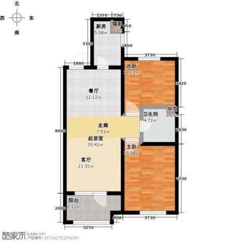 铂悦山2室0厅1卫1厨89.00㎡户型图