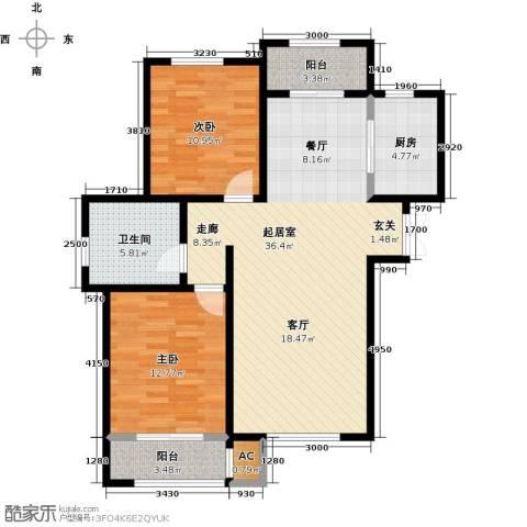 松江城玫瑰郡2室0厅1卫1厨108.00㎡户型图