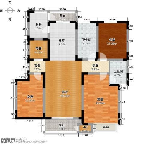 领世公馆3室1厅2卫1厨145.00㎡户型图