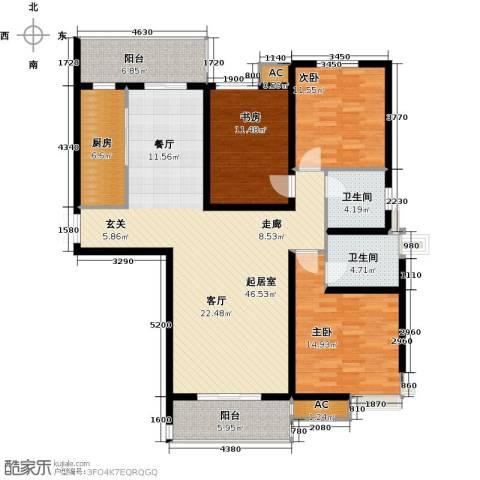 尚层名筑3室0厅2卫1厨159.00㎡户型图