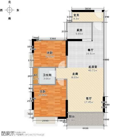康城上品2室0厅1卫1厨90.00㎡户型图