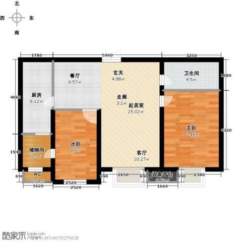 尚层名筑2室0厅1卫1厨92.00㎡户型图