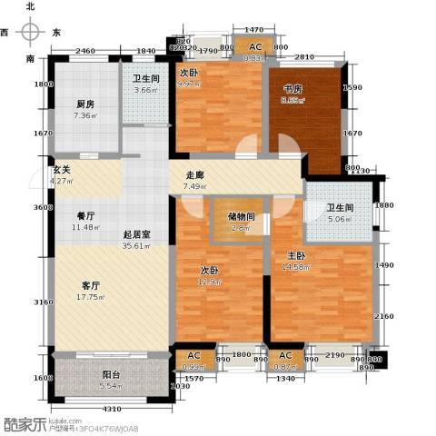 旭辉・御府4室0厅2卫1厨129.00㎡户型图
