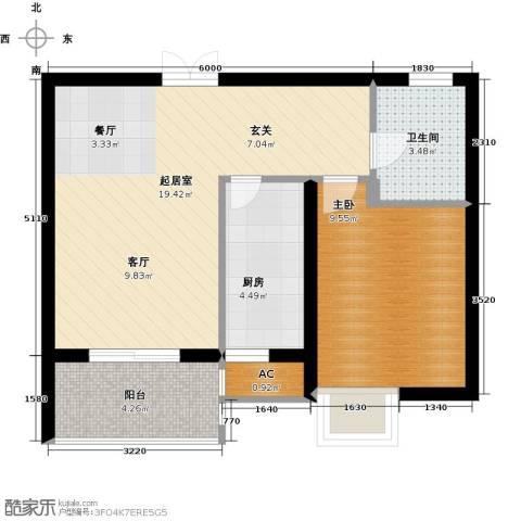 尚层名筑1室0厅1卫1厨66.00㎡户型图