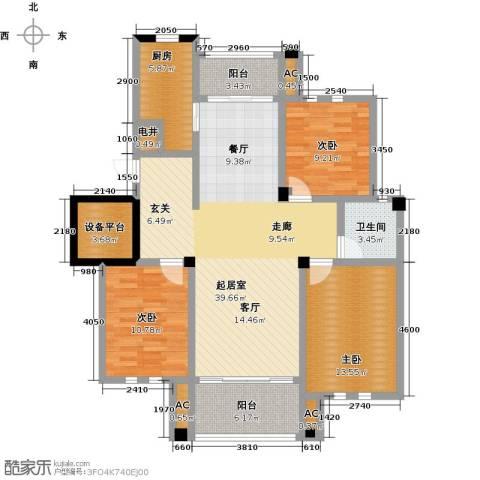 中港城世家3室0厅1卫1厨144.00㎡户型图