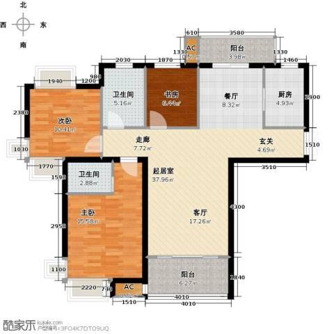 康城上品3室0厅2卫1厨134.00㎡户型图