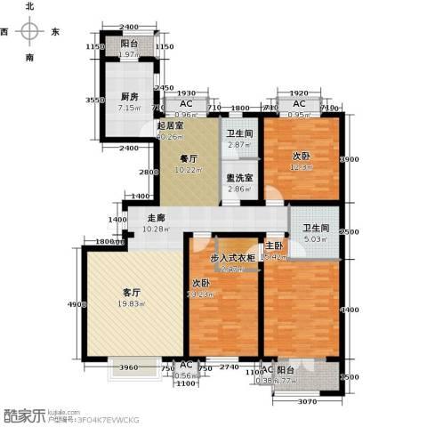 水榭花城3室0厅2卫1厨150.00㎡户型图