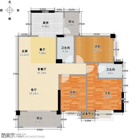 阳光花园3室1厅2卫0厨102.00㎡户型图